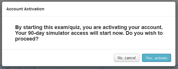 Activate the PM Exam Simulator